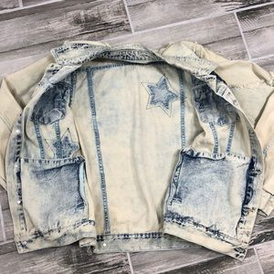 Smoke Rise Jackets & Coats - Smoke Rise Acid Wash Distressed Jean Jacket
